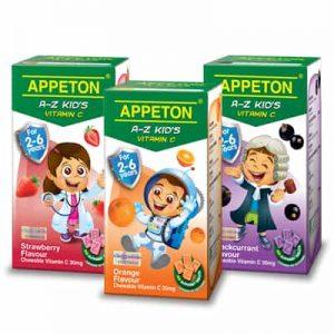 Appeton A-Z Kid's Vitamin C vitamin penambah berat badan terbaik