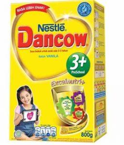 susu bubuk Dancow 3+ Lactobacillus Protectus paling enak